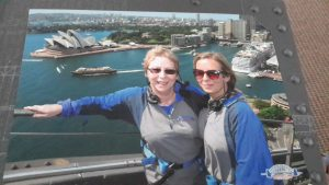 Rachel and I. Sydney Harbour Bridge