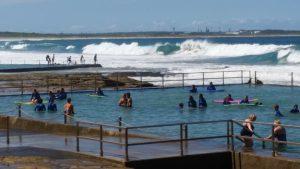 Swimpond/crashing waves